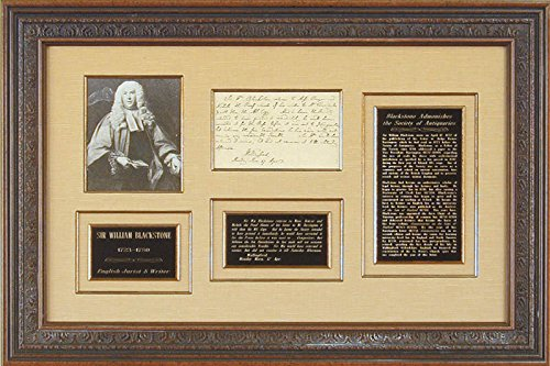 Sir William Blackstone Third Person Autograph Letter 4/17