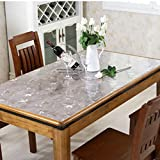 Soft glass waterproof pvc tablecloth,soft crystal version of frosted high temperature table mat-A 90x150cm(35x59inch)