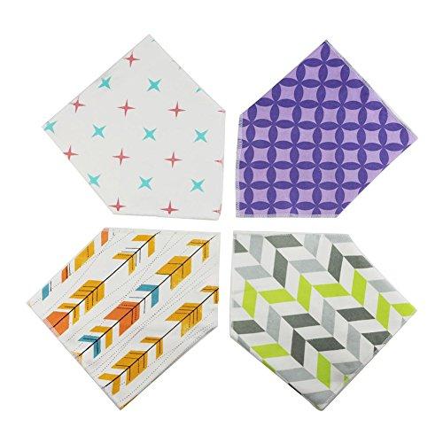 Bandana absorbentes Baba baberos para el babeo y la dentición paquete de 4 Juego de regalo Para niños y niñas (color al azar) Por Webeauty