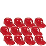 BD&A MLB Mini Batting Helmet Ice Cream Sundae/Snack Bowls, Phillies - 12 Pack