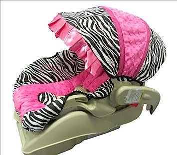 Amazon.com: Caliente rosa Minky cebra y bebé asiento de ...