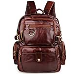 Texbo Genuine Polished Leather Small Backpack School Shoulder Bag Review