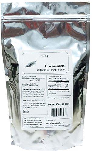 NuSci Niacinamide Vitamin B3 Pure Powder Energy (500 gram...