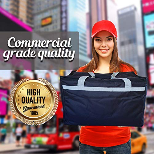Candid- Insulated Food Delivery Bag (21''L x 14''W x 15''H), Hot/Cold Thermal Lightweight Grocery, Catering, Delivery or Party Bag. by CANDID (Image #1)