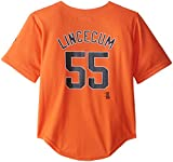 MLB San Francisco Giants Toddler Tim Lincecum Home Run Jersey, Orange, 4T