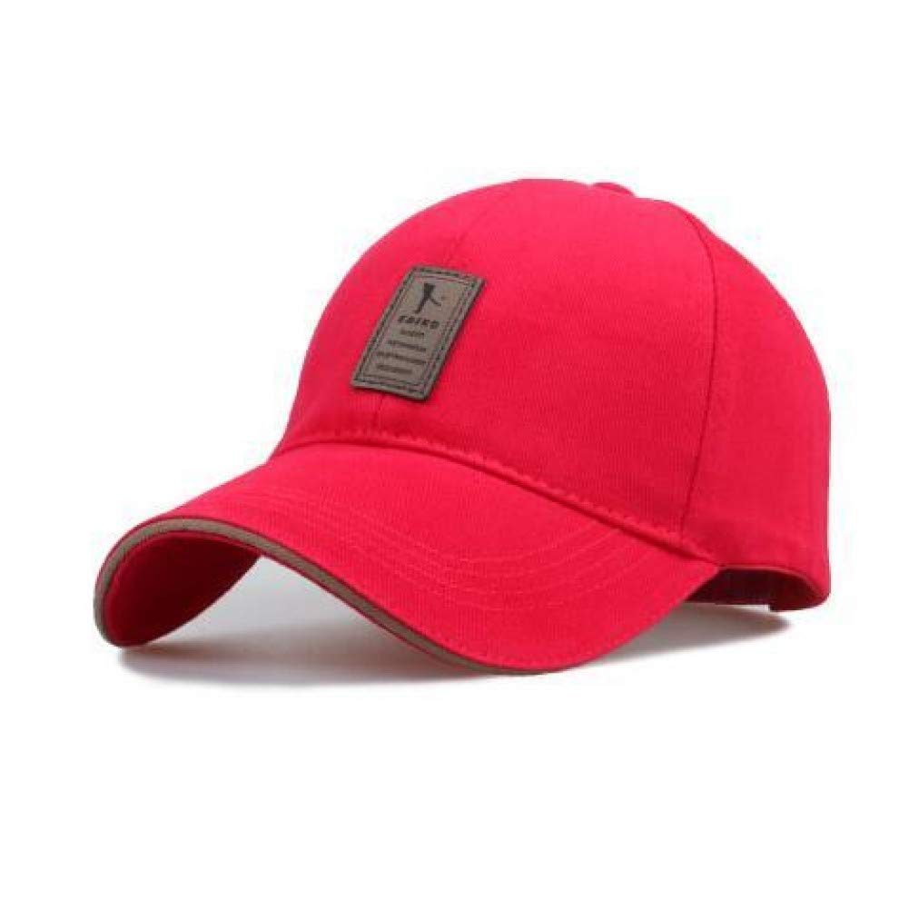 Red Outdoor Sports hat Baseball Cap Baseball Cap Men's Adjustable Cap Casual Leisure Hats Solid color Fashion Snapback Summer Fall Hat HIO Hop Cap for Women GrljdHat