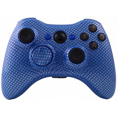 ModFreakz™ Shell/button Kit Hydro Dipped Collection Blue Carbon Fiber (NOT A CONTROLLER, For Xbox 360 Controllers)
