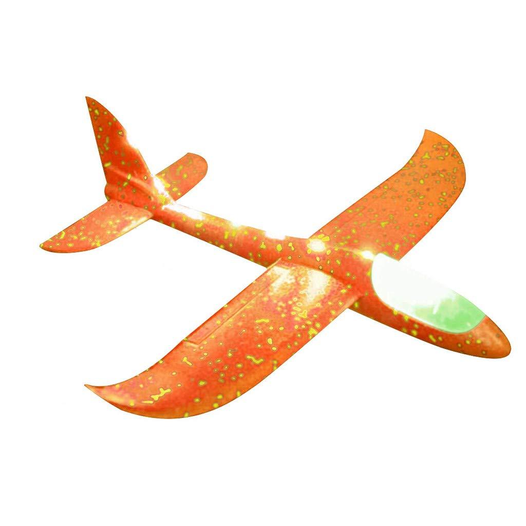 ALLTA Plano de Lanzamiento de Mano,Avión de Lanzamiento de la Mano del Juguete del avión de la inercia LED del Aeroplano del Lanzamiento de la Espuma 2pc