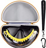 WELLGAIN Case Compatible with Safety Glasses Dewalt DPG82-21 / DPG82-11 Concealer Smoke Anti-Fog Dual Mold Safety Goggle