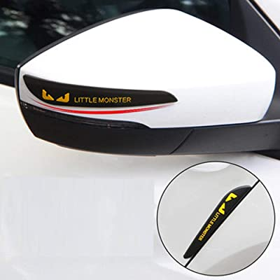 TIDO Universal Auto Rear View Mirror Anti-Scratch Door Side Edge Protection Guard Anti-Collision Bumper Guard Strip Protector Trim for Cars SUV Pickup Truck (2 Pack): Automotive