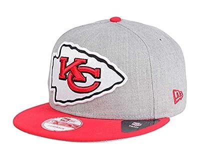 Kansas City Chiefs Snapback New Era 9Fifty Heather Grand Cap Hat Grey Wool Red