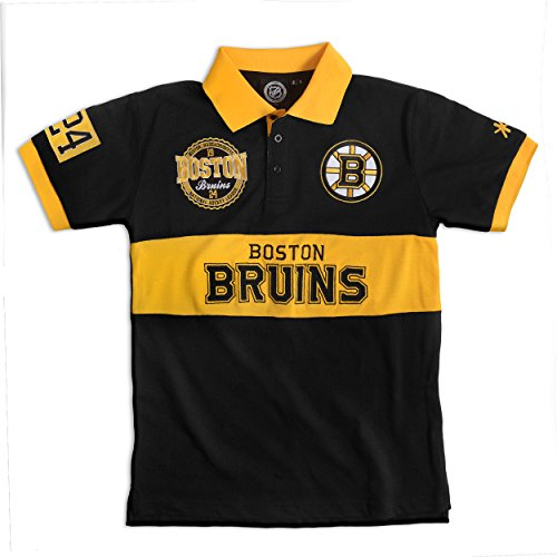 Boston Bruins Cotton/Poly Wordmark Rugby Short Sleeve Polo Shirt Extra Large -
