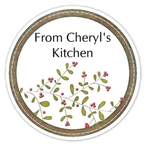 36 Kitchen Labels, Holly Sprig From My Kitchen stickers, Homemade Kitchen Stickers