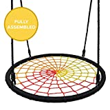 Play Platoon Spider Web Tree Swing - 40 Inch Diameter, Fully Assembled, 600 lb Weight Capacity, Easy to Install