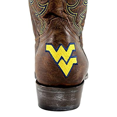 "GAMEDAY BOOTS NCAA West Virginia Mountaineers Mens WV-M329Men's 13"" West Virginia University, Brass, 8.5 D (Medium) US: Sports & Outdoors"