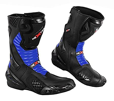 PROFIRST 2016 Nextek New Design UK 6//EU 40 Genuine Leather Motorbike Motorcycle Armoured Boots Long High Ankle Protection RASING Shoes Sports Cruising Touring Red /& Black