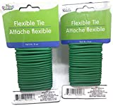 16.6 ft Flexible Tie Attache flexible - 2 pack