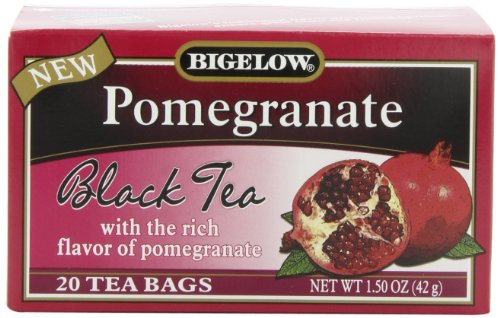 Bigelow Tea Pomegranate Black Tea, 1.50-Ounce Boxes (Pack of 6)