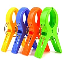 Auko Pack of 6 Large Bright Colour Plastic Beach Towel Pegs Clips for Sunbed,Pool,Sun Lounger(Random Colour)