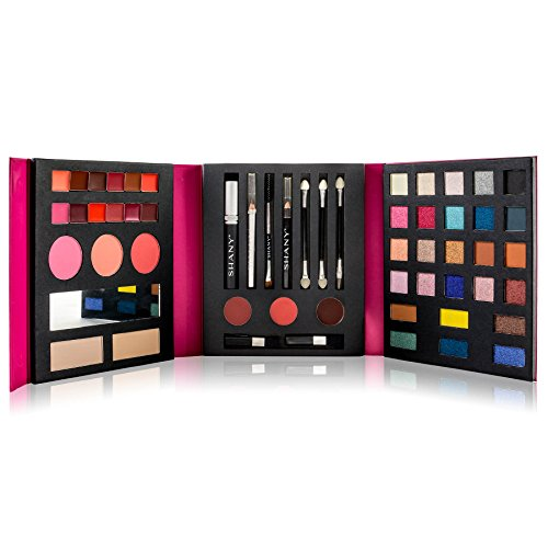 SHANY Beauty Book Makeup Kit – All in one Travel Makeup Set – 35 Colors Eye shadow, Eye brow, blushes, powder palette,10…