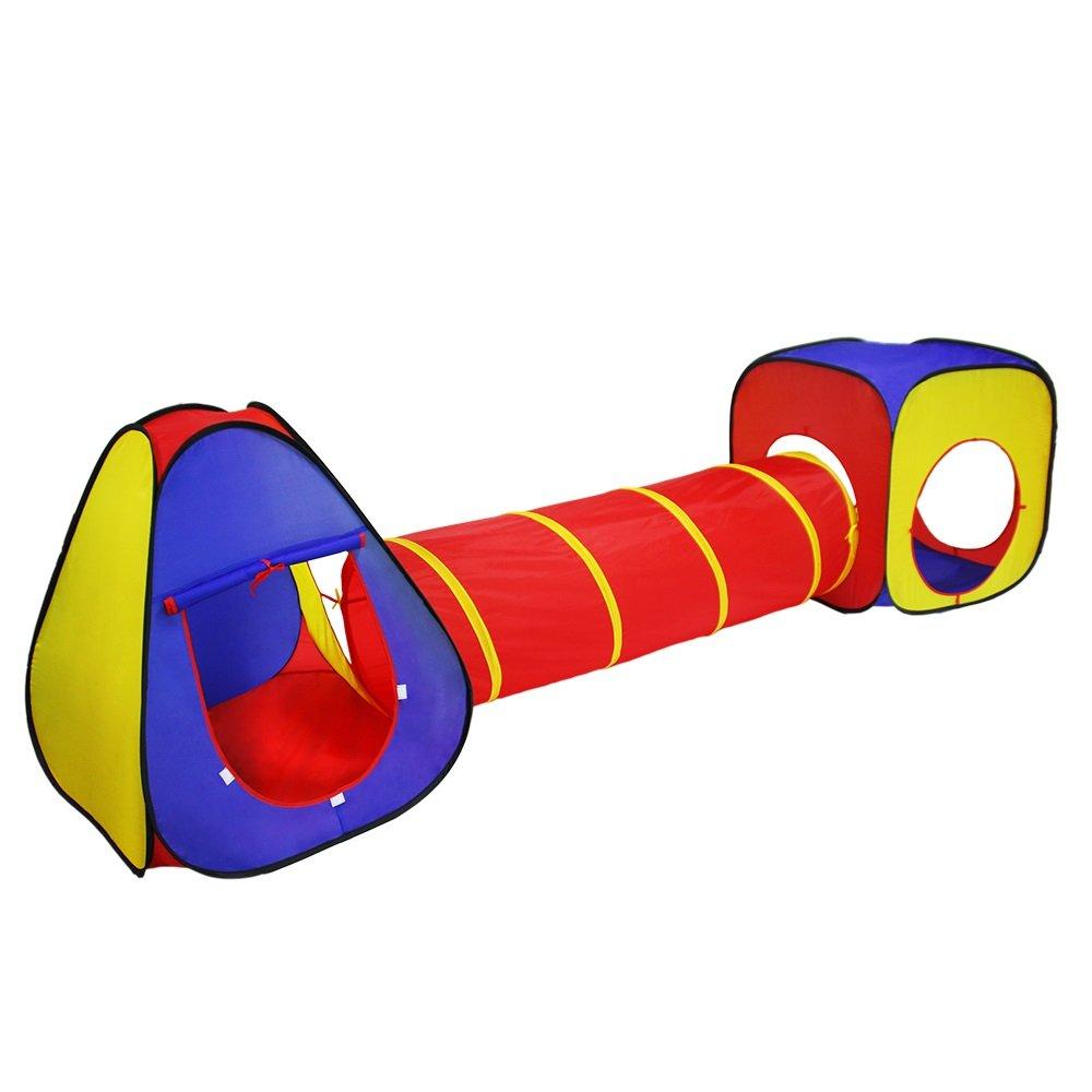 popular KQYAN- Tienda Tienda Tienda de campaña Juego Tent Tunnel Set- 3 Piezas Gran Regalo para niños y niñas, niños pequeños y bebés - Interior Exterior  varios tamaños