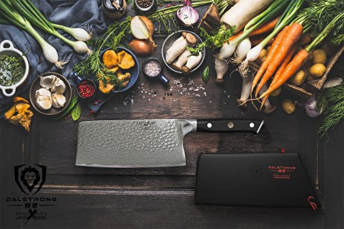 DALSTRONG Cleaver - Shogun Series X - AUS-10V- Vacuum Treated - 7'' Hammered - Sheath by Dalstrong (Image #4)