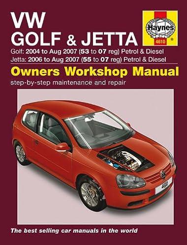vw golf jetta service and repair manual 2004 2009 haynes service rh amazon com 2008 Jetta Manual 2007 vw jetta repair manual pdf