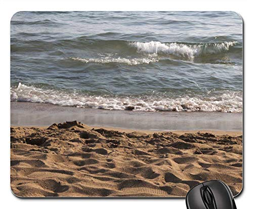 Mouse Pads - Beach Sea Sand Salt Water Wave Surf Water Turkey