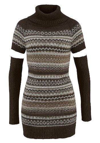 Mini robe en tricot avec gantelets laura scott