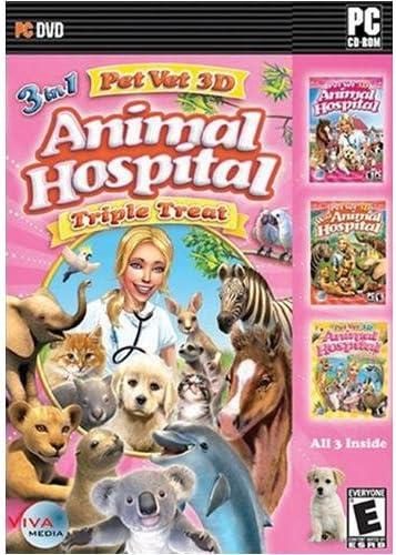 Amazoncom Pet Vet 3d Animal Hospital Triple Treat Video Games