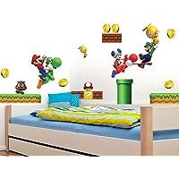 Super Mario Kinderkamer Slaapkamer Muursticker Waterdichte Verwijderbare Sticker