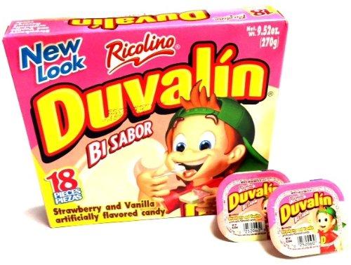Duvalin Strawberry & Vanilla Mexican Sweet Candy 18 Pcs 9.52oz ()