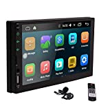 Android 6.0 Car Stereo Video Player - Eincar 7' Inch Double Din In Dash Car Radio Touch Screen GPS Navigator with Bluetooth Built-In WIFI GPS Navigation System + Remote Control + External Microphone