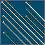 100pcs 1 1/2 12K Gold Filled HEADPINS 24 Gauge
