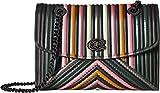 COACH Women's Color Block Quilting with Rivets Parker Shoulder Bag Dk/Black Multi One Size