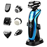 Ceenwes Electric Razor 7 in 1 Beard Trimmer Waterproof Man's Grooming Kit Hair Clippers Dry&Wet Nose Hair Trimmer Cordless Rechargeable Facial & Body Hair Trimmer for Men &Women Ceenwes