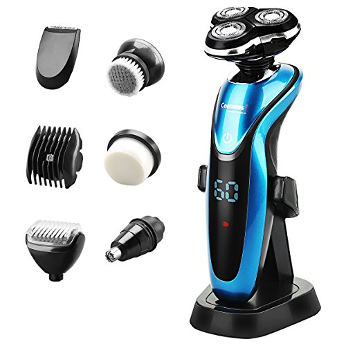 ceenwes electric razor 7 in 1 beard trimmer waterproof man 39 s grooming kit hair clippers dry wet. Black Bedroom Furniture Sets. Home Design Ideas