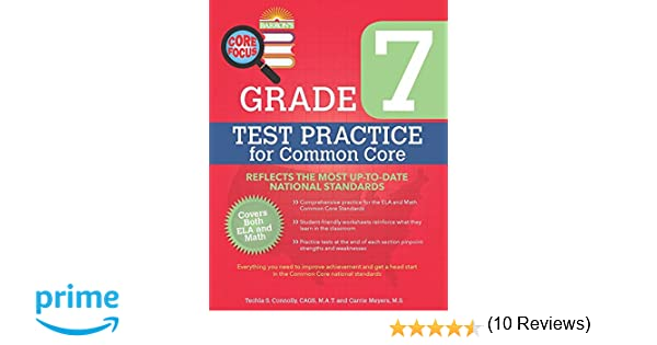 Counting Number worksheets grade 7 math probability worksheets : Barron's Core Focus: Grade 7 Test Practice for Common Core: Techla ...