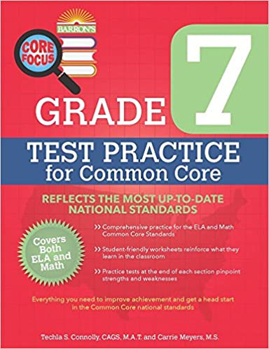 Barron's Core Focus: Grade 7 Test Practice for Common Core: Techla ...