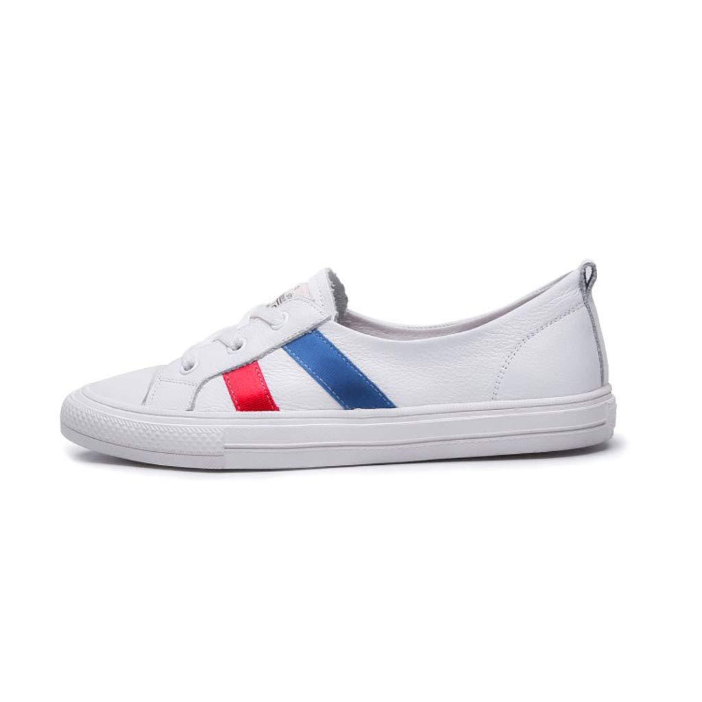 HRN Frauen Schuhe Leder dünne atmungsaktive Flache Schuhe Schnürschuh Freizeitschuhe Sommer 36EU