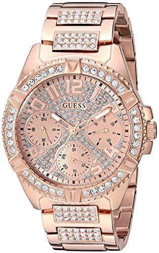 GUESS Women's Quartz Stainless Steel Casual Watch, Color:Rose Gold-Toned (Model: U1156L3)