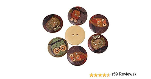 "20 PACK*** size 55 1/"" 3//8 35MM WOODEN BUTTONS 2-HOLE NATURAL BULK BUY"
