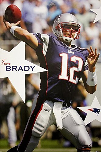 Exclusive New England Patriots Tom Brady Sports Art Print Poster