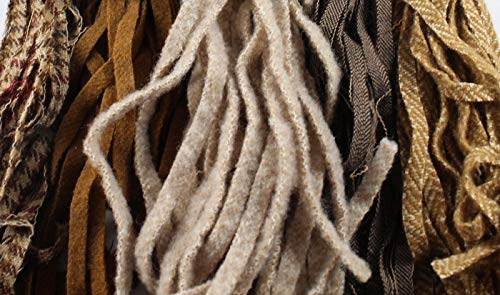 - 100% Wool Assorted Up-Cycle and New - #8 - Qty 100 - Browns and Tans