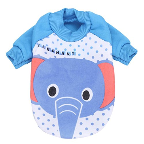 Teresamoon Warm Sweater Coat Pet Dog Jacket Jumpsuit for Small Dogs Cats (XXL, Sky Blue) - Father Sky Costume