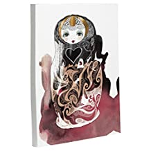 "Bentin Home Decor Mischka Doll Gallery Wrap Canvas by Judit Garcia Talvera, 8""x 10"", White/Multi"