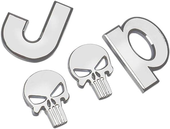 D28JD Logo-Emblem f/ür Karosserie ABS Buchstaben Aufkleber f/ür J-eep Punisher//Wrangler//Grand Cherokee//Kompass,Schwarz
