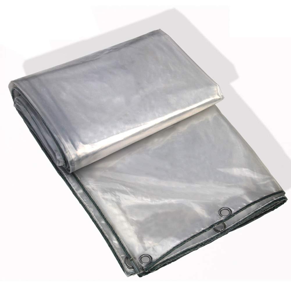 YANZHEN ターポリンタープヘビーデューティー 光透過 防水 メタルホール 防水シート 折りたたみ式 温室 アウトドア、 複数のサイズ (色 : クリア, サイズ さいず : 4x6m) B07QSXQNFB クリア 4x6m