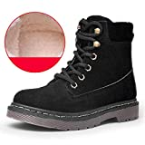 Womens Martin Boots 2018 New Winter Lace Up Casual Retro Round Toe Warm Cotton Lining Ankle Shoes