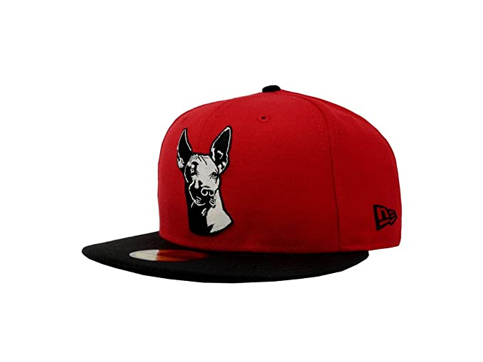 New Era 59Fifty Hat Tijuana Xolos Caliente Soccer Club Liga MX Red Black  Cap ( d048c02291c